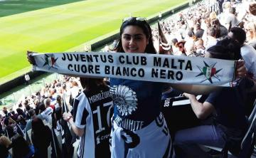 Maltese supporters from the Juventus Club Malta Cuore Bianconero were also present at this historic game.