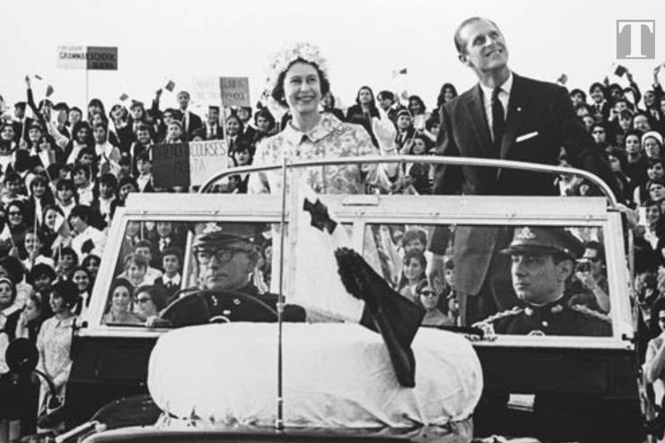 Prince Philip and Queen Elizabeth during an early visit to Malta. Photo: Times of Malta
