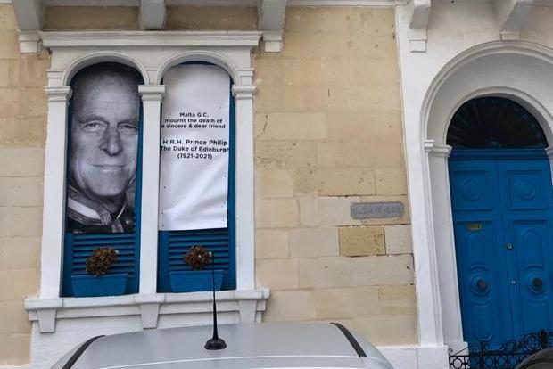 A house in Sliema pays tribute to the late Prince. Photo: Hugh Arrigo