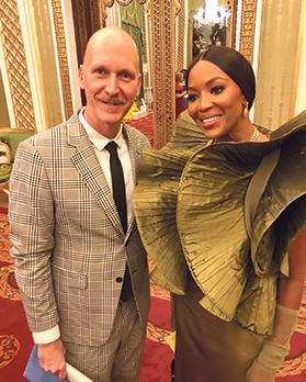 Ron with supermodel Naomi Campbell.