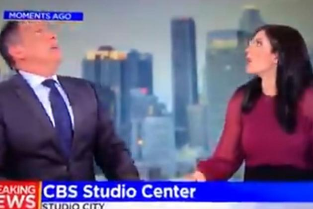 Watch: News anchors jolted by earthquake while live on air