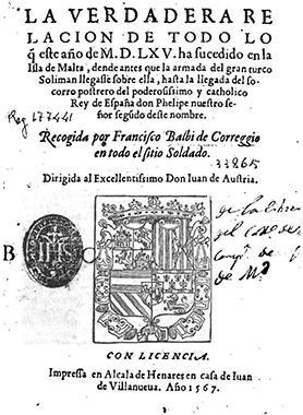 Francisco Balbi'sVerdadera Relacion, first edition, 1567.