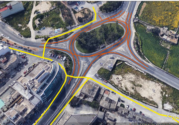 What cyclists proposed to authorities for one of the roundabouts