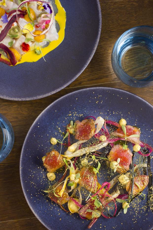 The colourful dishes at Lima Fitzrovia.