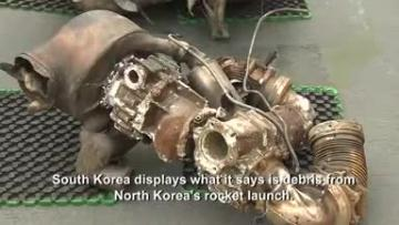 South Korea displays North Korea rocket debris