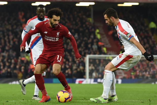 Liverpool's Mohammed Salah was in jubilant form as the Reds beat Crystal Palace.