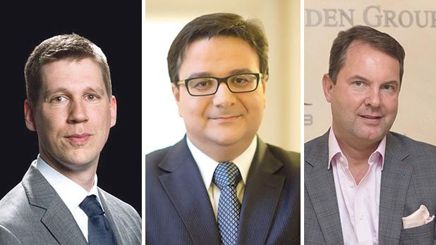 Bob Rottinghuis, Tonio Fenech and Sven von der Heyden