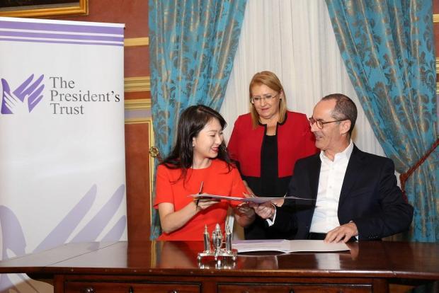 President Coleiro Preca oversees the MOU signing. Photo: DOI