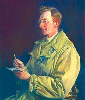 George Lambert, Charles EW Bean, 1924, oil on canvas, Australian War Memorial.