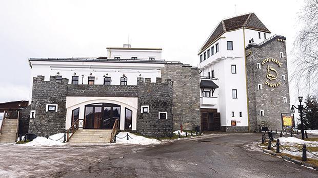 The four-star Castle Dracula Hotel in Piatra Fantanale, Romania.