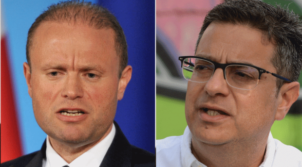 Joseph Muscat (left) and Adrian Delia (right) lead a political class which is faring poorly on trust ratings.