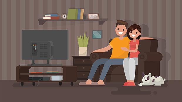 These days we mostly watch movies at home. Obviously it's great because not only do we always have the best seat but we can sprawl all over it.