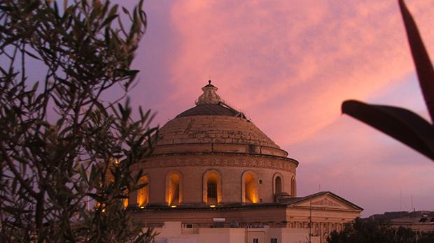 Sunset over Mosta. Photo: Alexander Pace