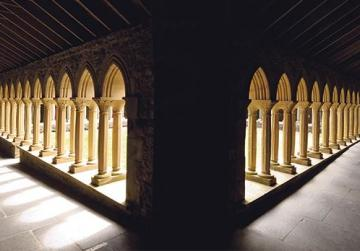 A view of the cloisters of Iona Abbey.