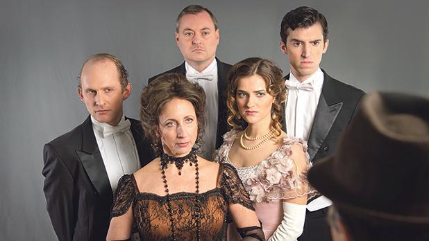 From left: Edward Caruana Galizia, Edward Thorpe and Gianni Selvaggi with Isabel Warrington and Roberta Cefai.
