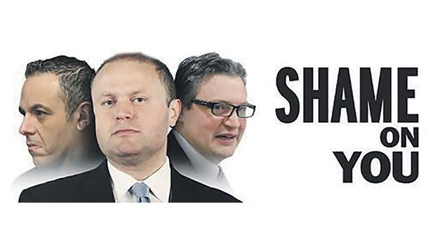 The billboard against the Panama affair.