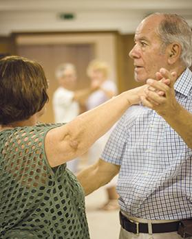 Scientific studies have shown that dance classes help people with Parkinson's improve their initiation of movement.