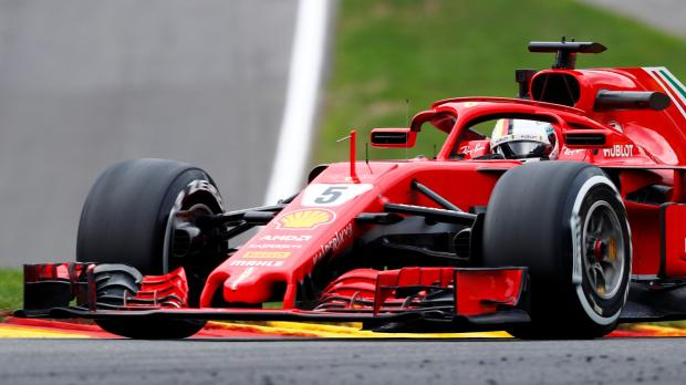 Sebastian Vettel edge team-mate Kimi Raikkonen in the last practice session in Belgium.