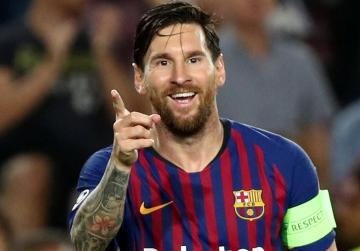 Watch: Messi hat-trick fires Barca to victory over PSV