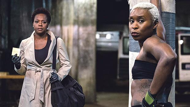 Viola Davis (left) and Cynthia Erivo pull their only and last heist in Widows.