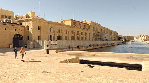 Renovations are under way for the AUM campus at Dock 1, Cospicua. Photo:Darrin Zammit Lupi