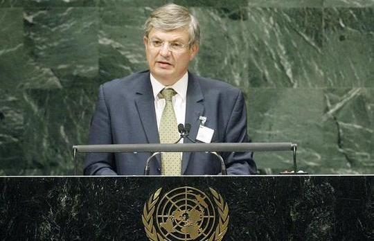 Foreign Minister Tonio Borg seen when he addressed the UN General Assembly a few weeks ago.