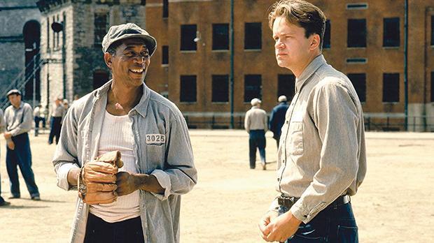 Morgan Freeman and Tim Robbins in Shawshank Redemption
