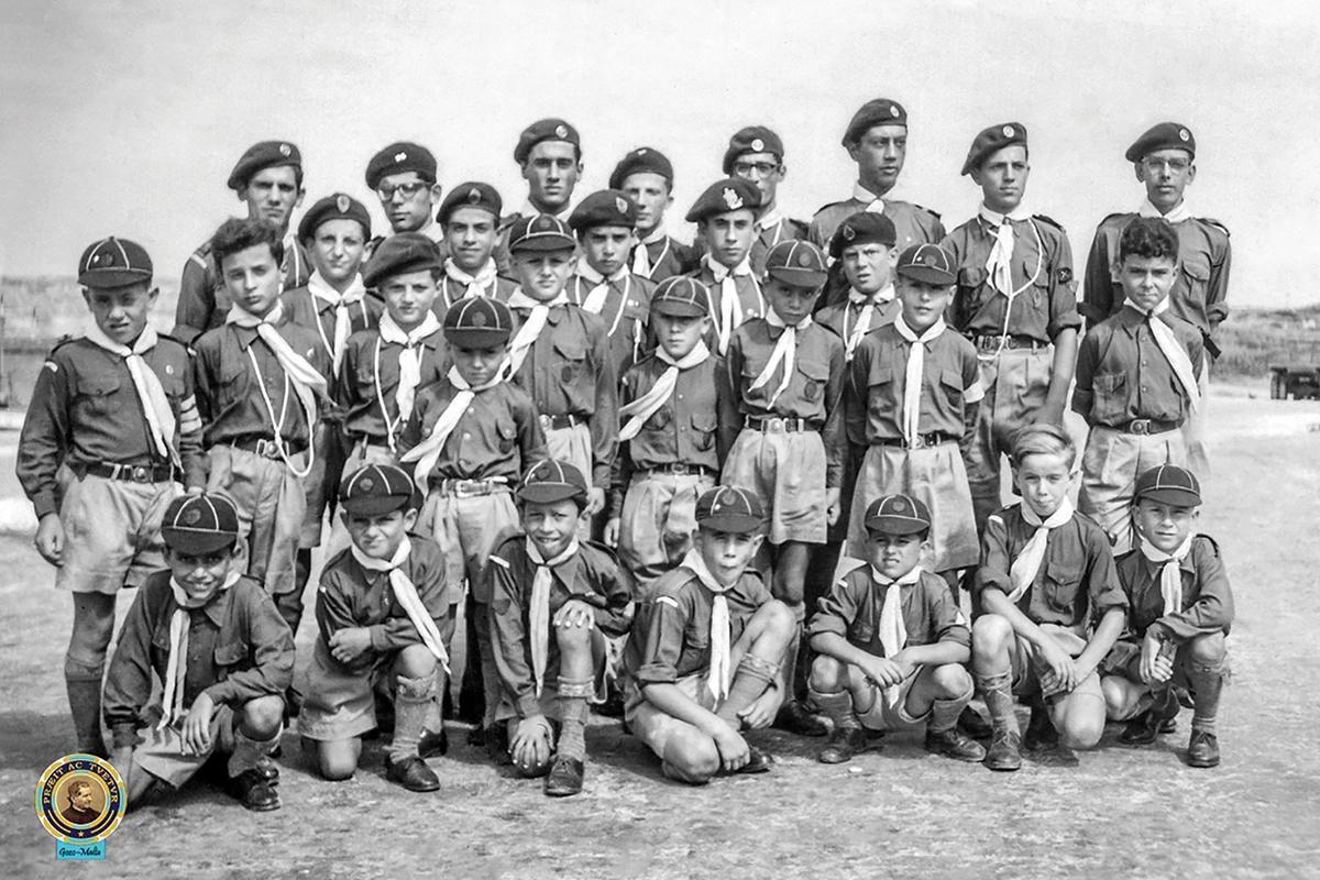 The Salesian Boy Scouts group in the 1950s. Photo: Joe Zammit Ciantar