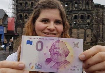Marx birthplace cashes in on €0 notes for anniversary