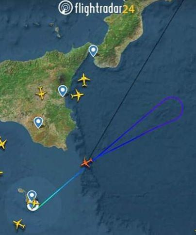 The aircraft as spotted on FlightRadar.