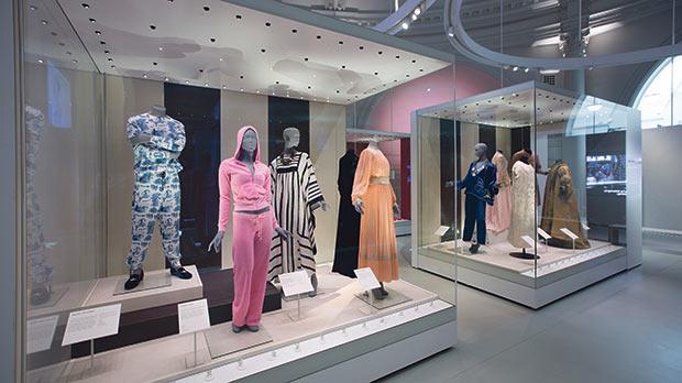 Installation view of Undressed: A Brief History of Underwear