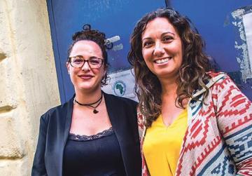 Christina Lejman, left, and Ritianne Ellul.