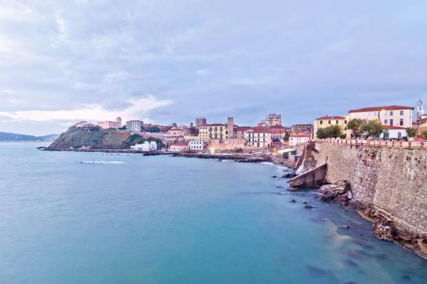 The town of Piombino, Italy.
