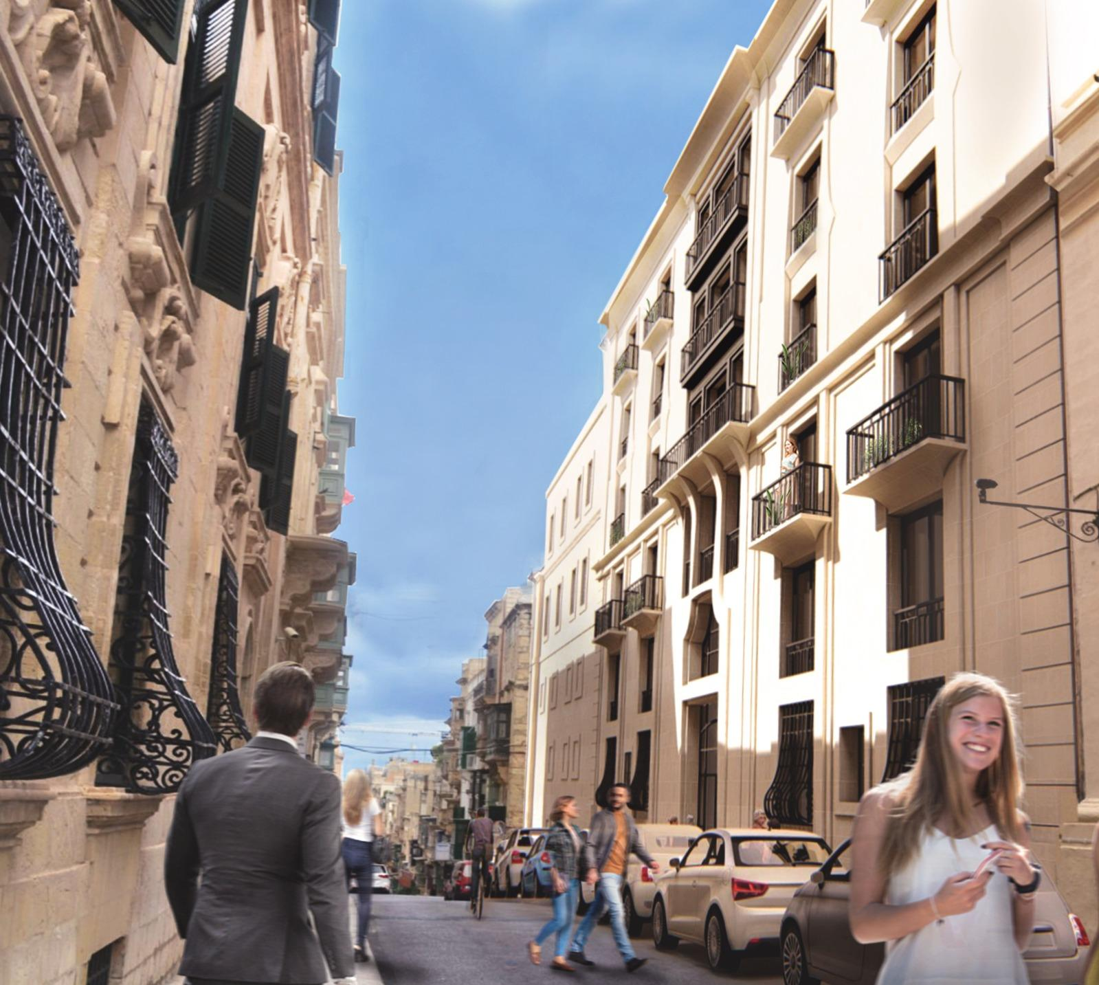 An artist's impression of the new building (right).