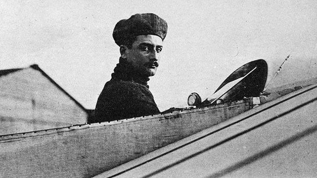French pilot Roland Garros.