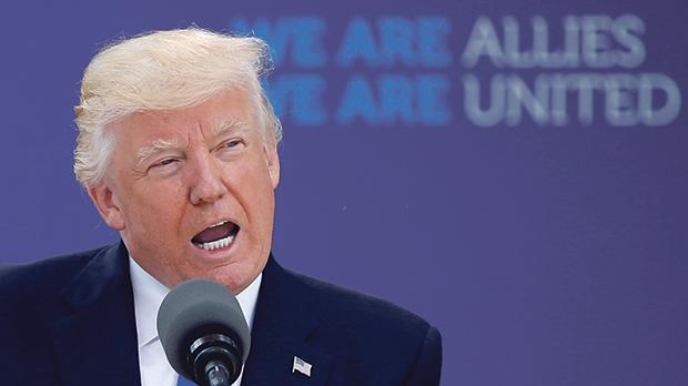 US President Donald Trump attends a Nato summit of heads of state and government in Brussels, Belgium, May 25, 2017. Photo: Jonathan Ernst/File Photo/Reuters