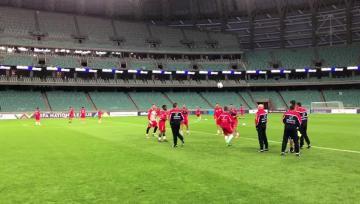 Watch: Malta players preparing for Azerbaijan clash  | Video: Gianluca Lia