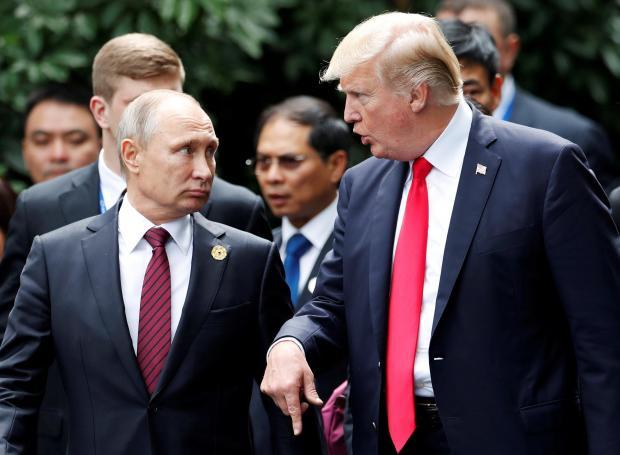 US President Donald Trump and Russia's President Vladimir Putin.
