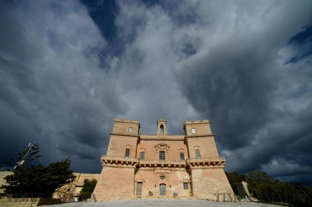 Selmun Palace, a baroque-styled edifice on the outskirts of Mellieħa, built in the 16th and 17th century as a summer residence for the wealthy nobles of the time, stands out against the grey, menacing clouds in the background on January 11. Photo: Matthew Mirabelli