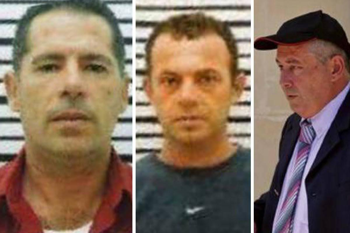 George Degiorgio, Alfred Degiorgio and Vince Muscat: the three men accused of murdering Caruana Galizia. Muscat has admitted to the crime.