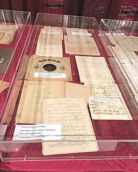 Numerous scores by well-known composer Carlo Diacono are currently on display at the Beland Band Club in Żejtun.