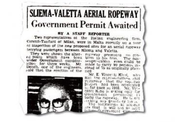 How Times of Malta reported the story in 1964.