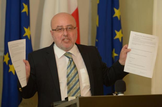 Head of the Civil Service Mario Cutajar defends the new code of ethics during a news conference at Castille, Valletta on June 5. Photo: Matthew Mirabelli