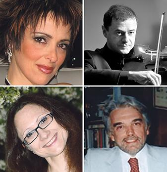 From top left:  Ruth Sammut Casingena, Dino De Palma, Daria Aleshina and Giuseppe Fricelli.