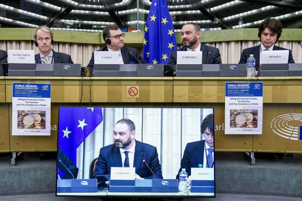 Owen Bonnici meets with TAX 3 committee members. Photo: European Parliament