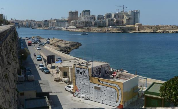 A graffiti image of a cat adds a bit of colour to the coast in the lower part of Valletta, a neighborhood which has been chosen by the government for a regeneration pilot project as part of a broader strategy in the capital. Photo: Matthew Mirabelli