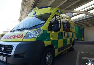 Two children hospitalised after being hit by car