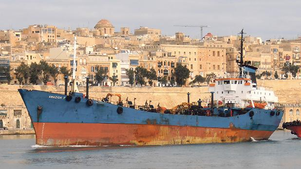 A vessel allegedly used by a gang of Maltese smugglers.