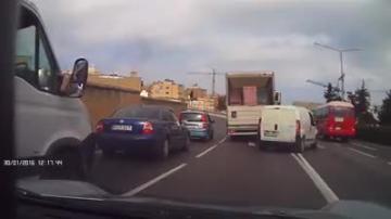 Watch: Van breaks every imaginable rule on Regional Road