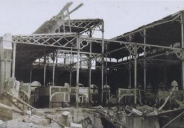 Part of the building which was destroyed by enemy action on April 7, 1942. (Historical photos taken from the Method Restoration statement submitted to the planning authority)